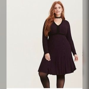 Torrid striped sweater dress
